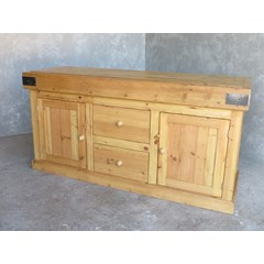 Wooden Butchers Block With Storage
