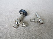 Wooden Head Chrome Buckingham Thermostatic Valves