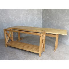 Wooden Refectory Table With Console Unit
