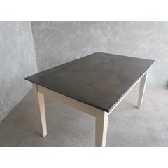 Zinc Dining Room Table In An Antiqued Finish