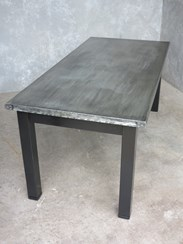Zinc Garden Table At UKAA