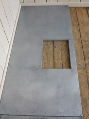 Zinc Kitchen Worktops Made at UKAA