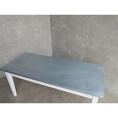 Zinc Table In Antique Distressed Finish