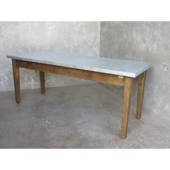 Zinc Table With A Waxed Base