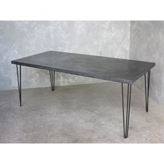 Zinc Table With Hairpin Legs