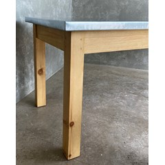 Zinc Table With Square Legs