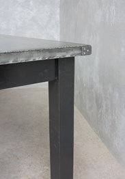 Zinc Top Garden Table