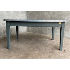Zinc Top Table With Chamfered Edges