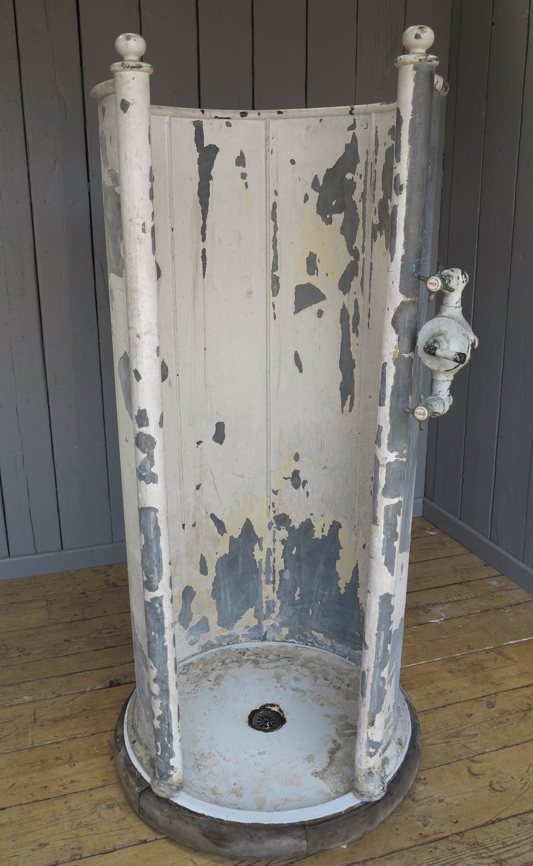 Victorian shower enclosure cast iron bath room