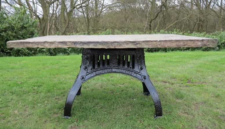 garden table antique york stone