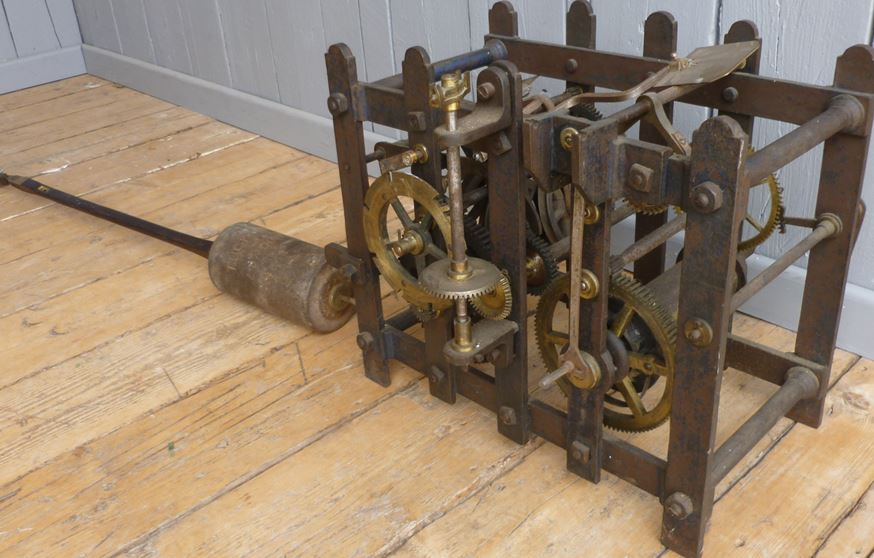 turret clock movement victorian pendulum