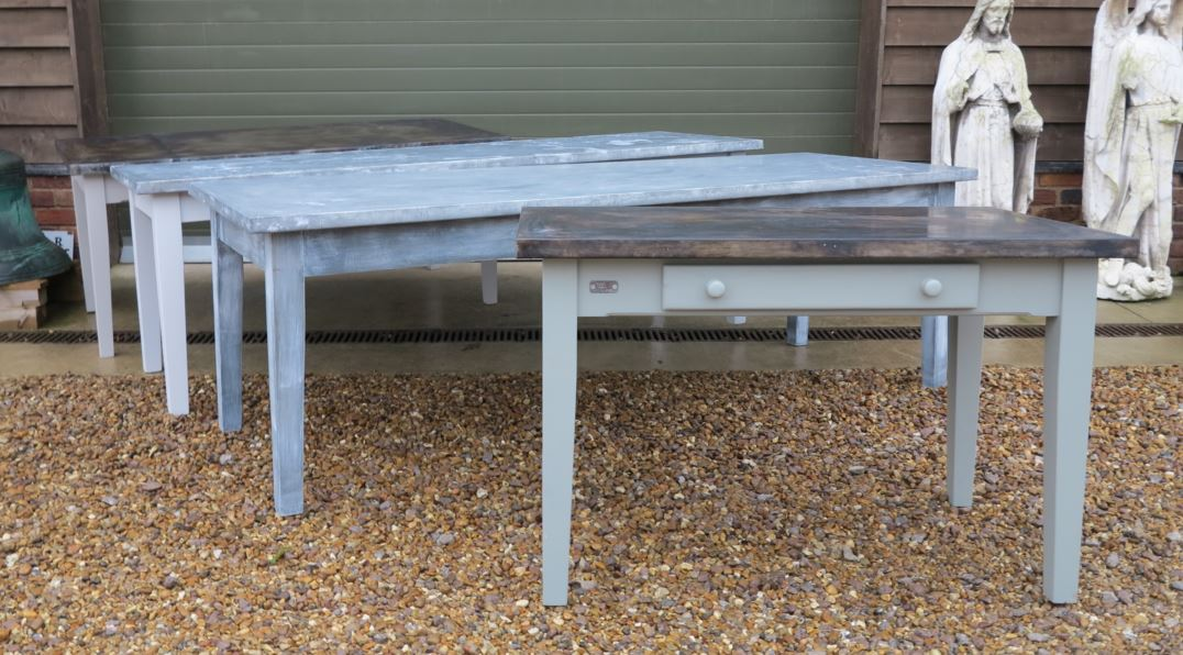 table bespoke zinc kitchen table