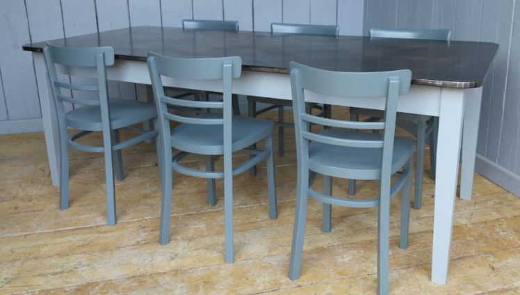 bespoke zinc copper table for sale made to order