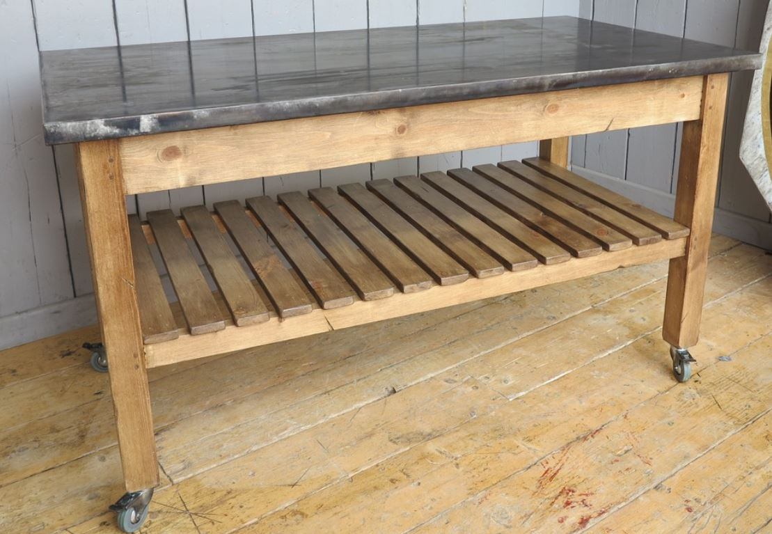 bespoke zinc table zinc made to measure butchers block central island