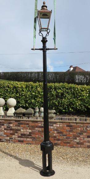 lamp post reclaimed victorian for sale copper cast iron