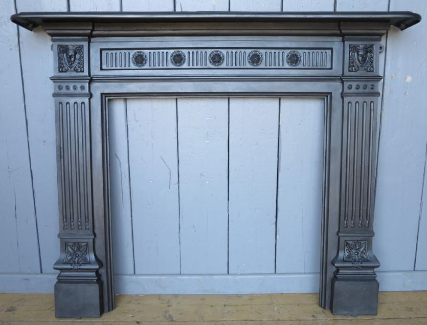 recalaimed fire surround cast iron for sale victorian
