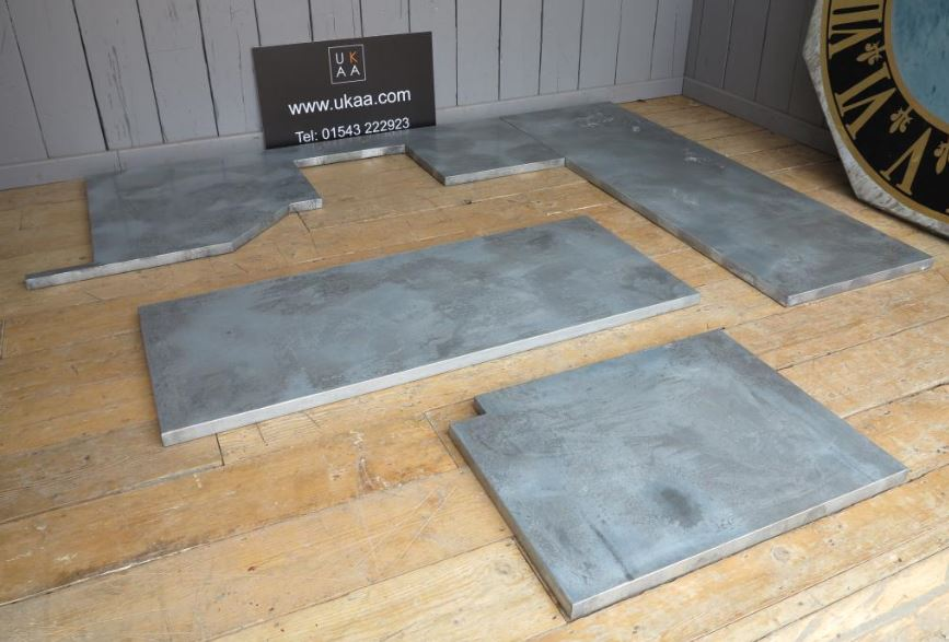 bespoke zinc made to measure kitchen work top for sale