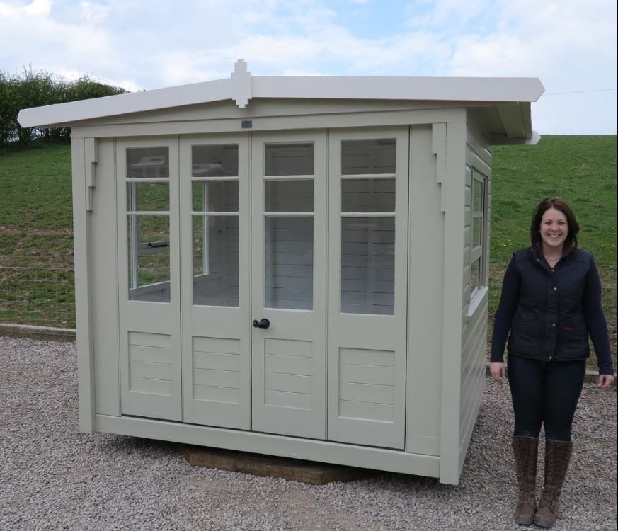 summer house boulton and paul rare item garden timber painted