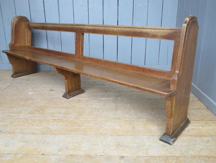 church pew wood pine reclaimed original antique varnished oak painted waxed bespoke