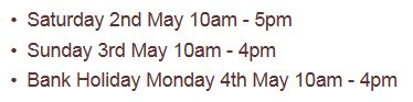 opening hours ukaa architectural antiques may day bank holiday
