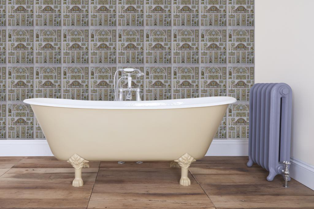 Carron Cast Iron Bath Baths Bespoke Painted Double Ended Roll Top Single Slipper