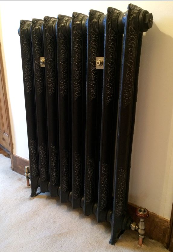 bespoke cast iron radiator carron rococo victorian traditional painted hand burnished polished highlight