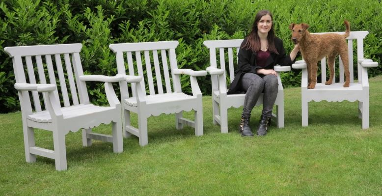 chatsworth garden furniture chair chairs seating pine refurbished original set