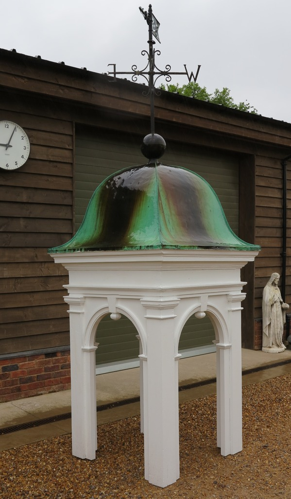 weathervane cupola garden antique decoration center piece wood copper reclaimed refurbished bell