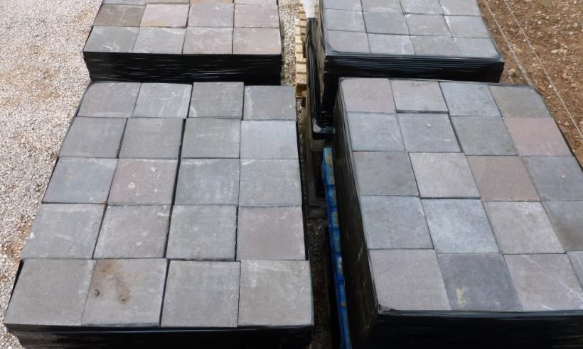 Quarry Tiles Reclaimed Blue Brindle Stone Hearth Flooring Floor Base