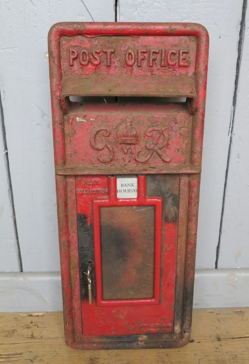 royal mail post box front GR ER VR unrestored restored project letter box unusual original