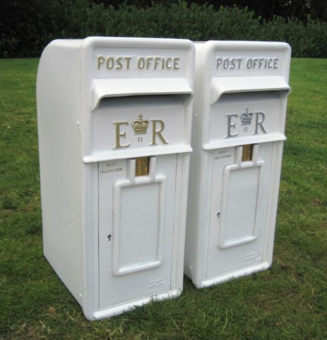 Wedding Day Marriage Unqiue Post Box White Pillar Box Summer Wedding Season Hire Purchase Buy Something New Something Borrowed