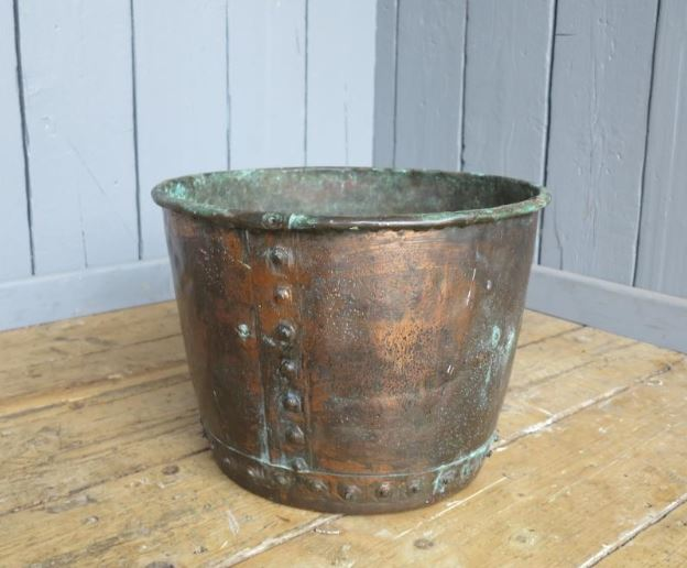 solid copper planter original reproduction pot garden antique feature plant