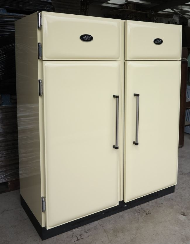 AGA Fridge Freezer Kitchen Accessories Refrigerator Cream Green Double Single Left Hand Right Hand Rare Stainless Steel Metal