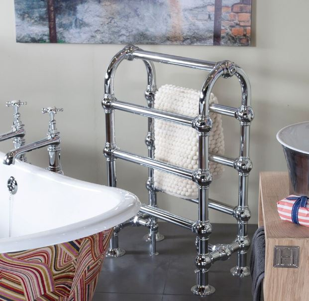 Radiator Towel Rail Colossus New Chrome Copper Nickel Double Single Tall Height Bathroom Holder Carron