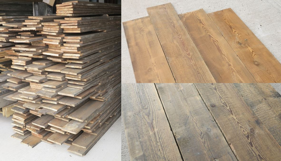 Reclaimed Pine Antique Resawn Floorboards Flooring Wood Victorian Traditional Worldwide Shipping