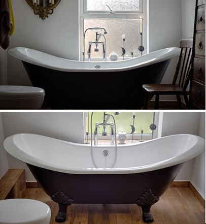 Bath cast iron carron for sale bespoke painted colour of choice cast iron bath claw feet