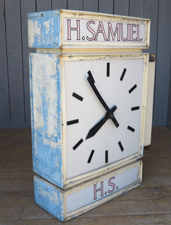 clock h Samuel reclaimed clock for sale copper hands