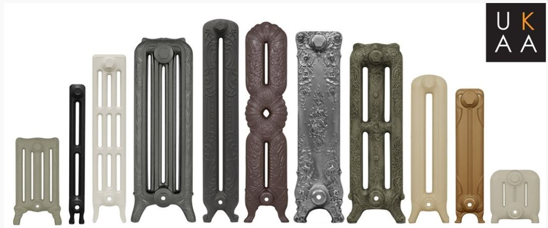 Traditional Victorian new reproduction Carron cast iron school radiators available to order custom built to your individual sizes and  bespoke colour choice