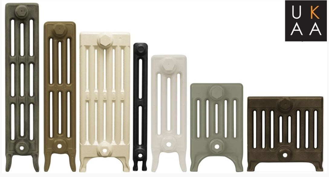 Bespoke new reproduction old school Victorian style Carron cast iron radiators available in two, three, four, six and nine columns with a life time guarantee.