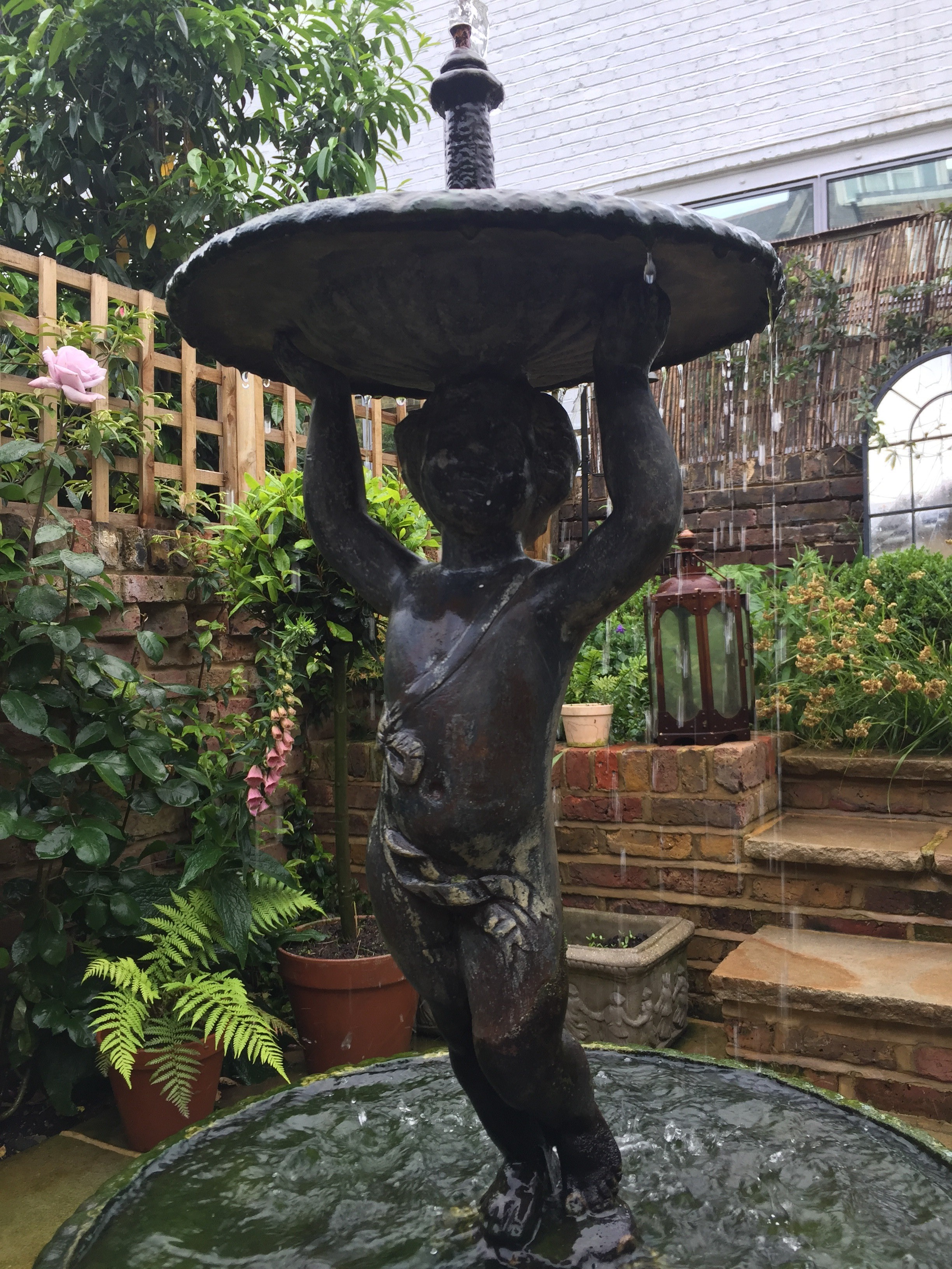 Buy antique cast iron water features and fountains from UKAA. Genuine old water features fitted in traditional gardens add character to your home
