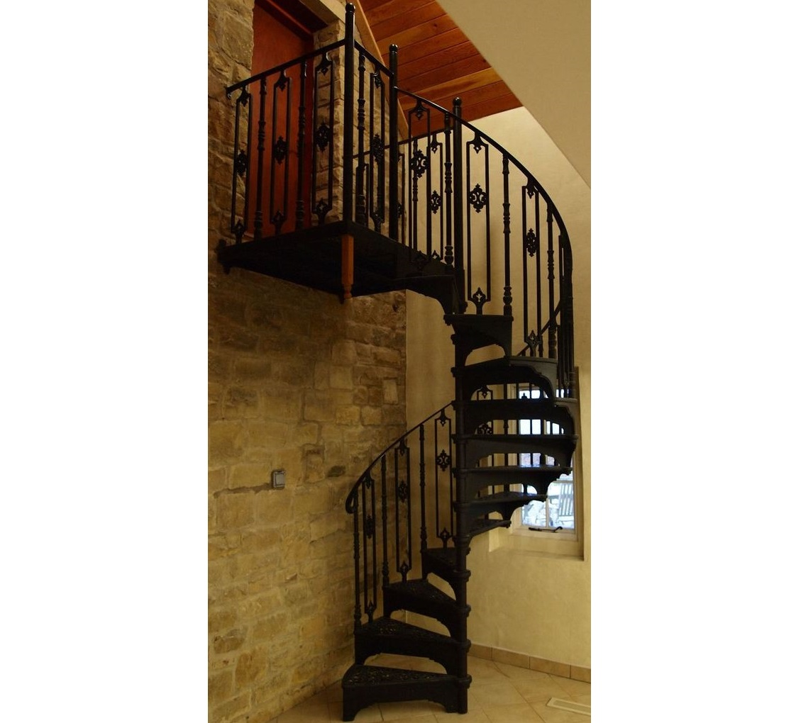 Ornate Spiral Staircase For Sale