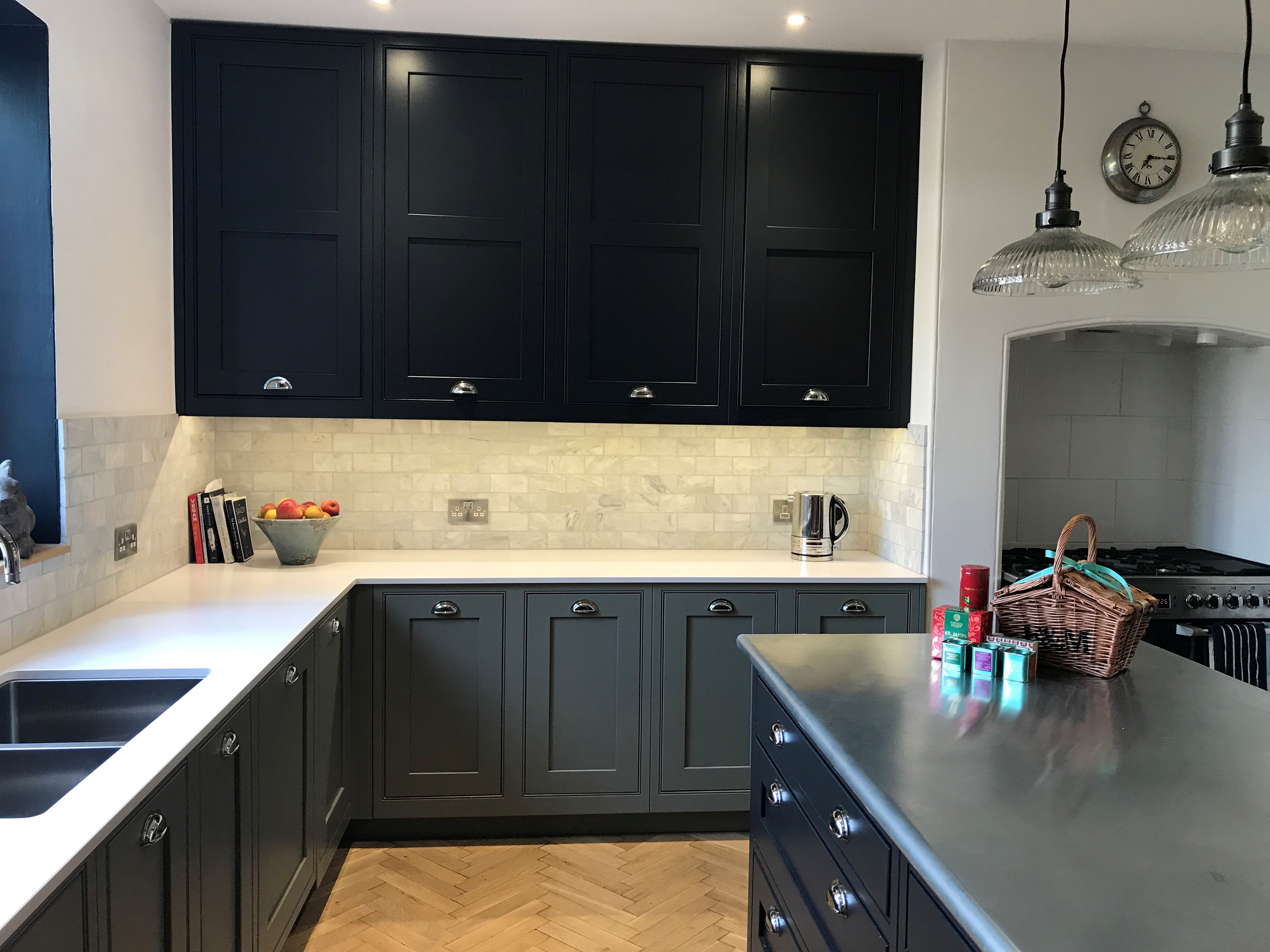 Metal Zinc Kitchen Worktops Made At UKAA