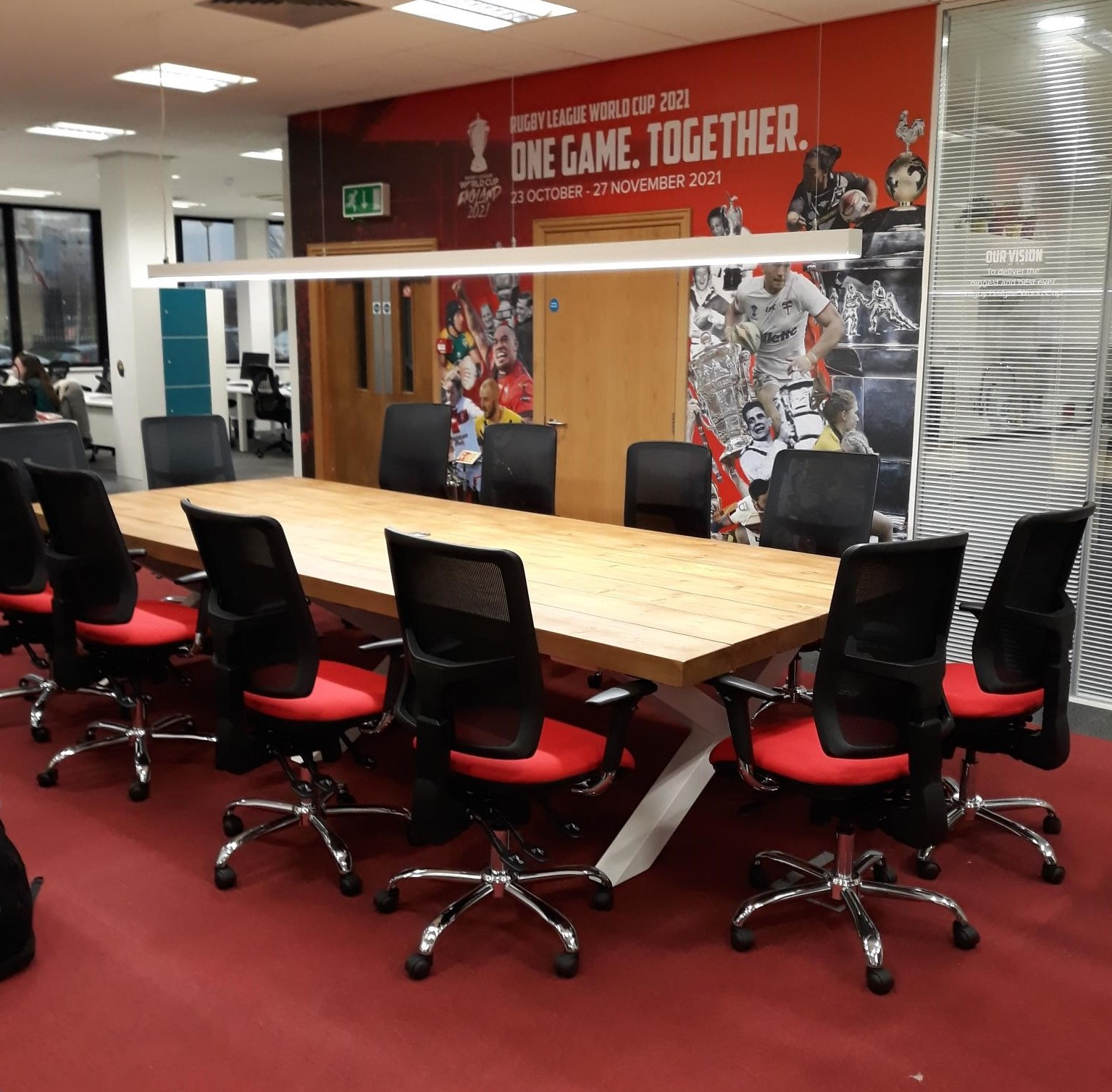 Bespoke Made Meeting Room Table For The Rugby World Cup 2021