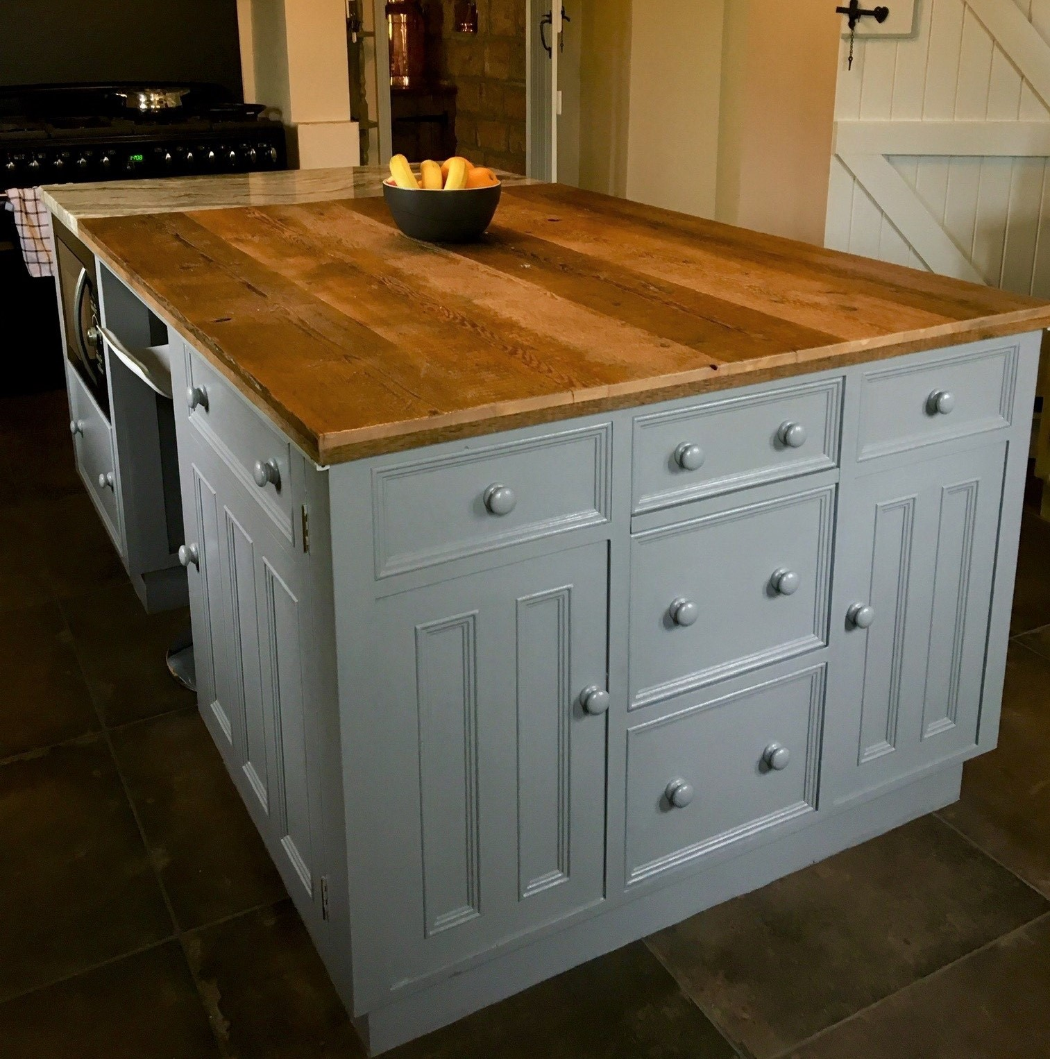 Antique Victorian Floorboards Can be Used as Kitchen Worktops