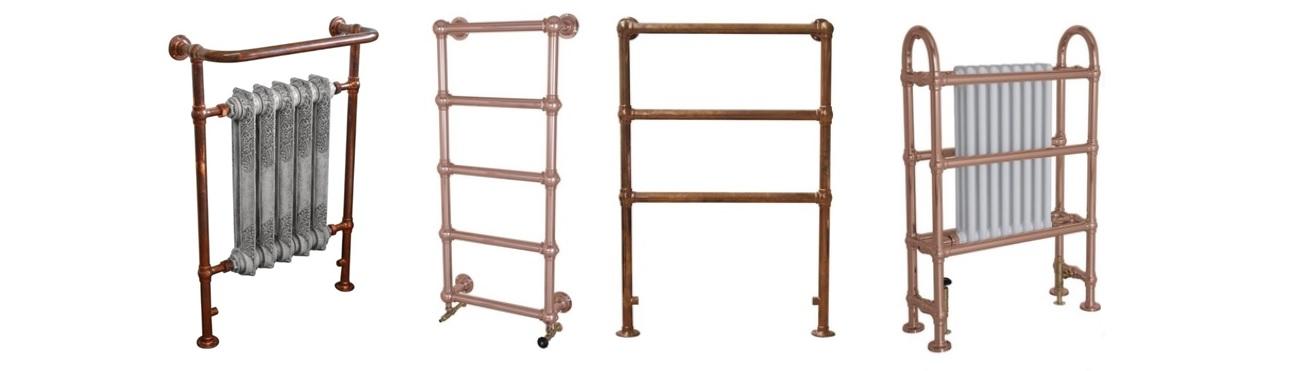 Copper Heated Towel Rails