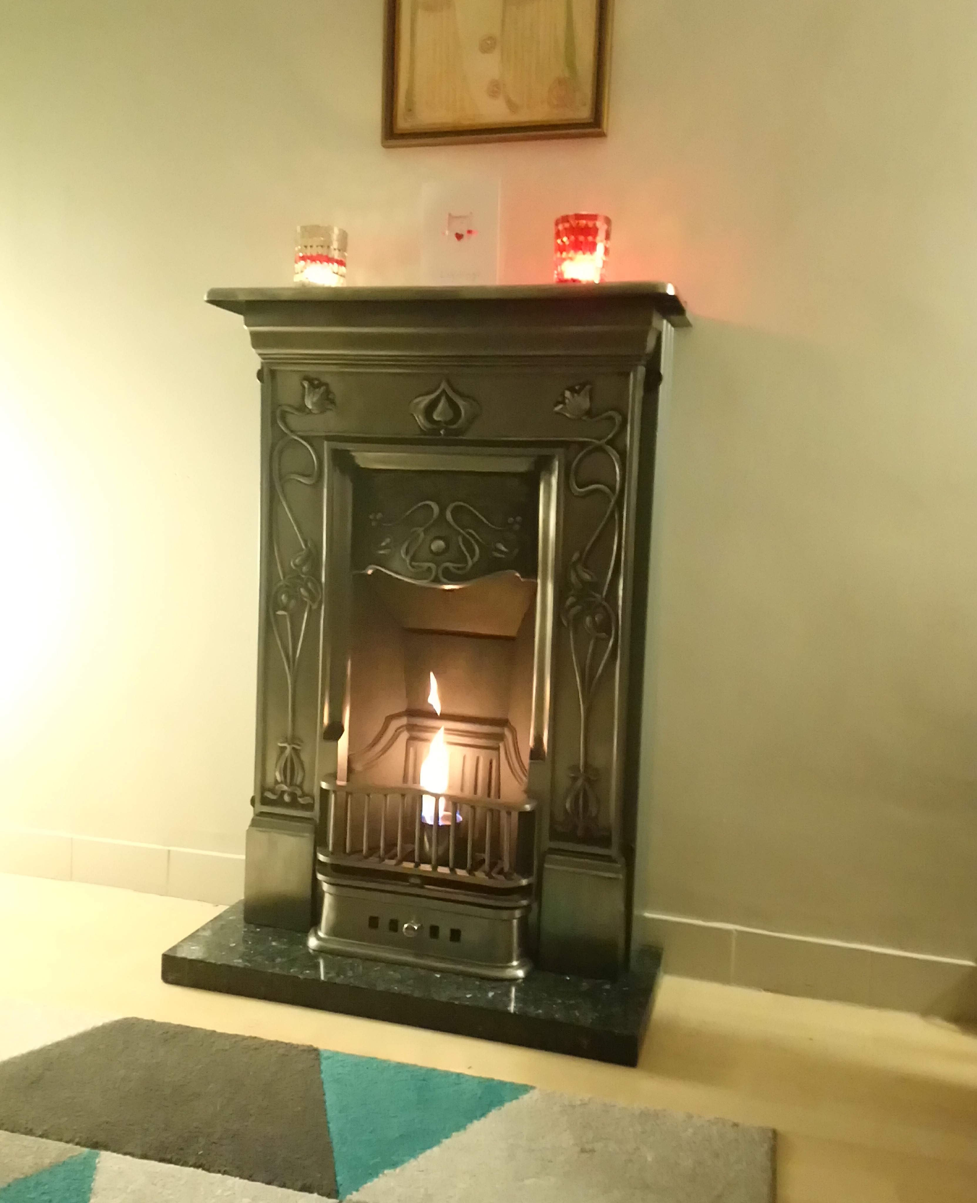 Victorian style cast iron fireplaces fitted in traditional homes