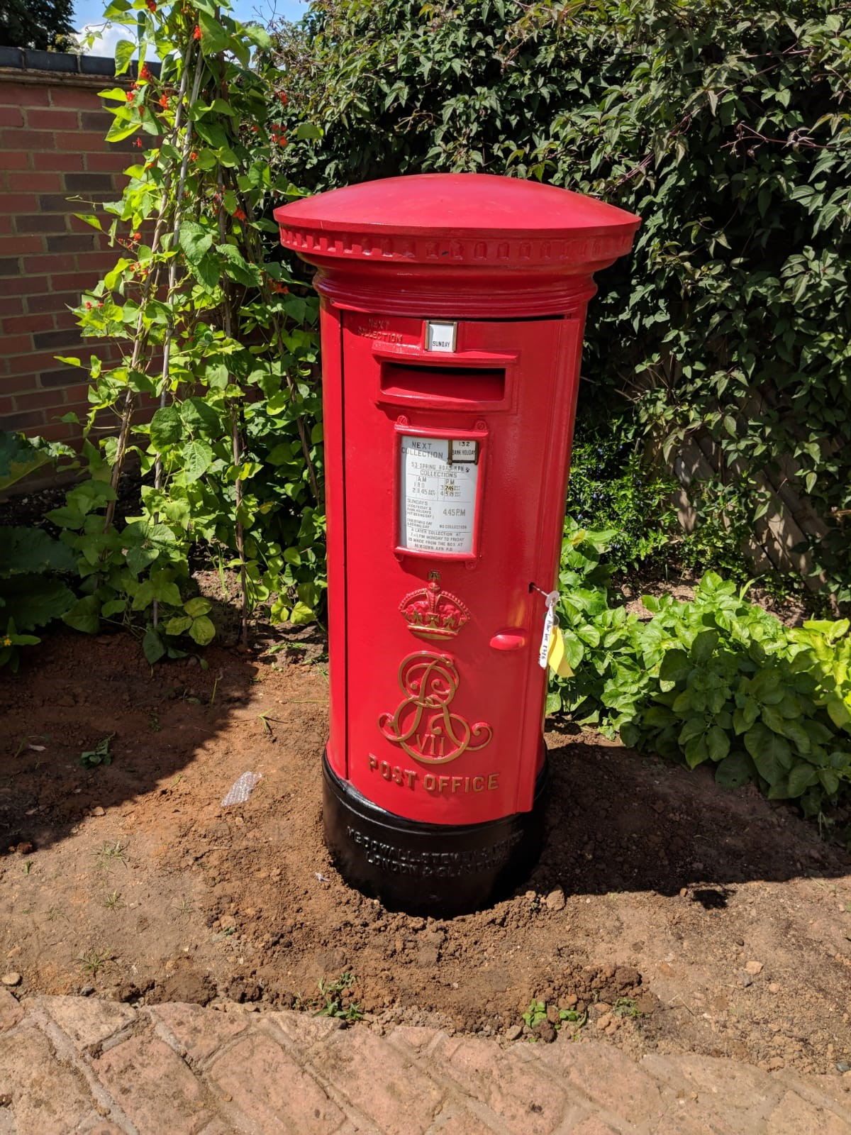 Antique Edward VII pillar boxes installed in a happy customers home. Read more