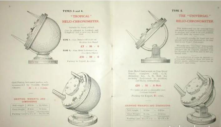 Pilkington Gibbs Heliochronometer Sundial Brochure