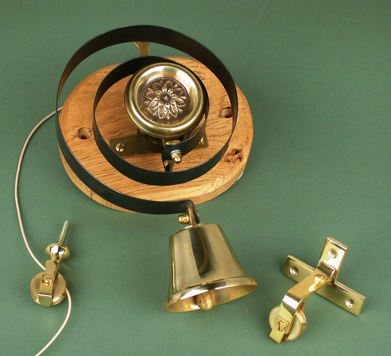 MDS Internal Brass Butlers Bell Fitting with Flower available for next day delivery