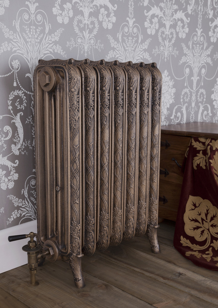 Cast Iron 4 Column Ribbon Radiator made by Carron and Sold Worldwide by UKAA